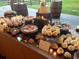 Cake and dessert table.