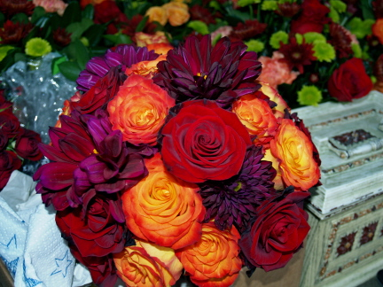 Black And Orange Wedding. Bridal bouquet of orange