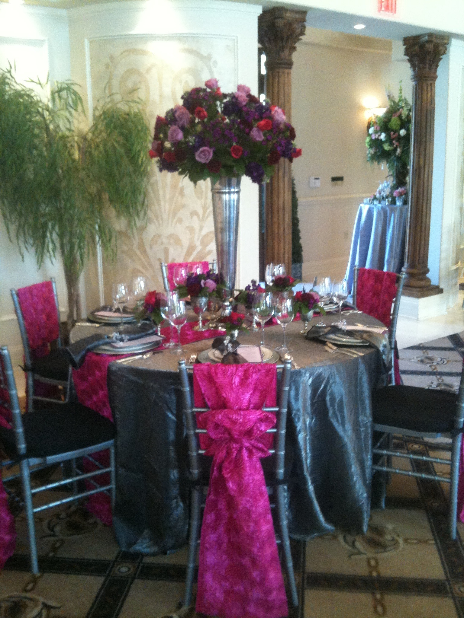 Hot Pink Wedding Centerpieces Fashion Dresses