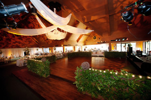 A two-level dance floor awaited guests to party with the Atlanta All-Stars band.