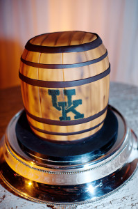 A bourbon barrel cake by Tinkers Cake Shop.