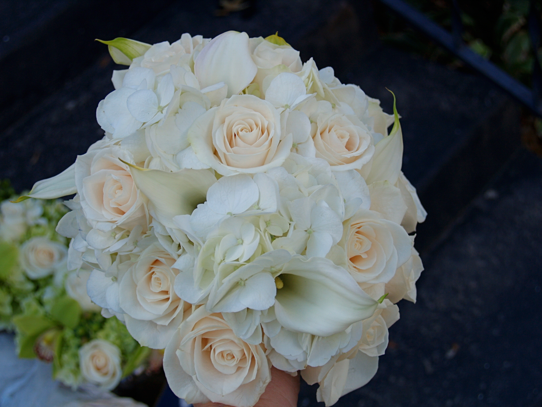 Bridal Bouquet With Calla Lilies And Hydrangeas : Alfa img showing gt roses hydrangeas and callas bouquet