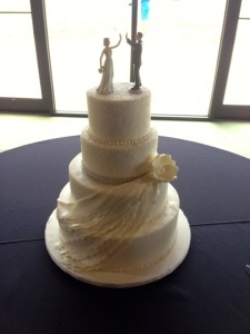 Beautiful cake by Martine's Pastries.