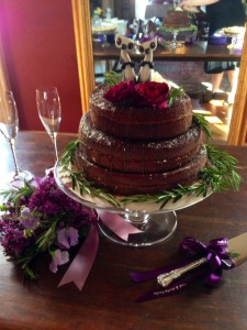 The bride made her own Jam Cake for the wedding, which was a family recipe. (best I have ever tasted!)