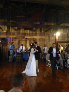 the first dance for our bride and groom