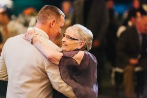 groom dances with granny