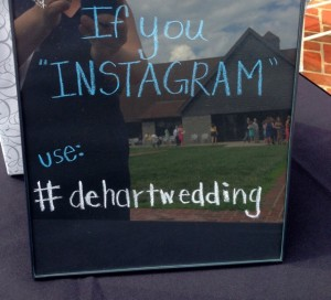 Instragram signs have definitely been a trend this year.