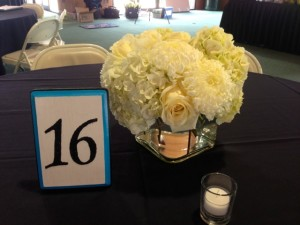 She made all her own table numbers.