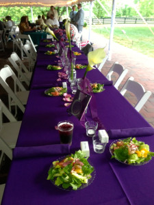 Wedding party table.